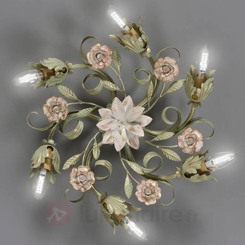 Plafonnier floral Tulipe à 6 lampes - Plafonniers style florentin
