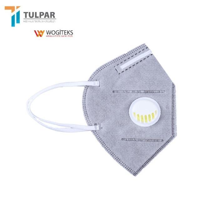 FFP2 Máscara descartável de 5 camadas de cor diferente com  - FFP2 Máscara descartável de 5 camadas de cor diferente com válvula
