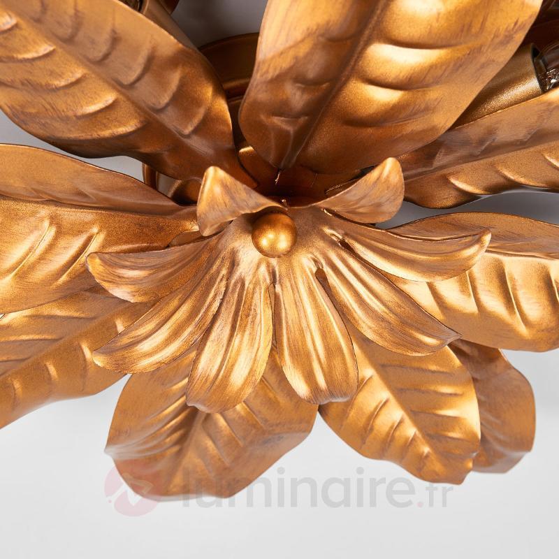 Somptueux plafonnier FLEURIA doré - Plafonniers style florentin