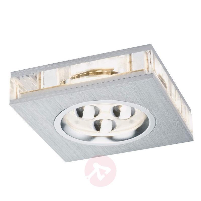 Square LED recessed light Liro, 3-piece set - Recessed Spotlights