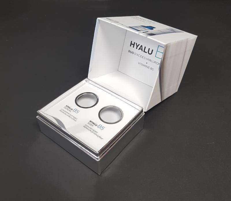 Coffret à Charnière - Impression Quadri + Pelliculage mat Boite cosmétique soin