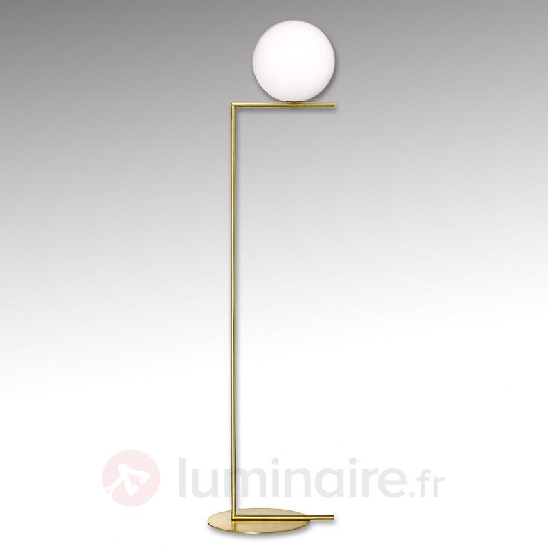 Lampadaire en laiton IC F2 de FLOS - Lampadaires design