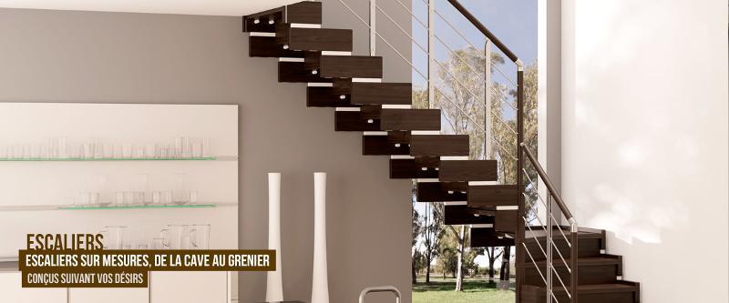 Escaliers sur-mesure - Menuiserie sur mesure