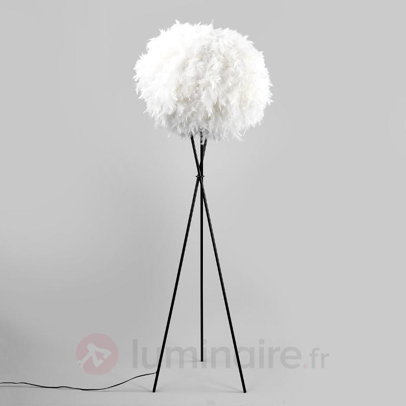 Lampadaire trépied Nero Feather XL - Tous les lampadaires