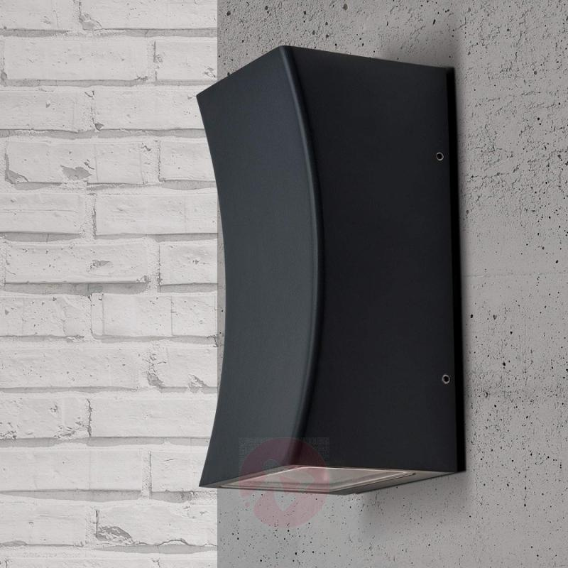 Asha - LED outdoor wall light in anthracite - outdoor-led-lights