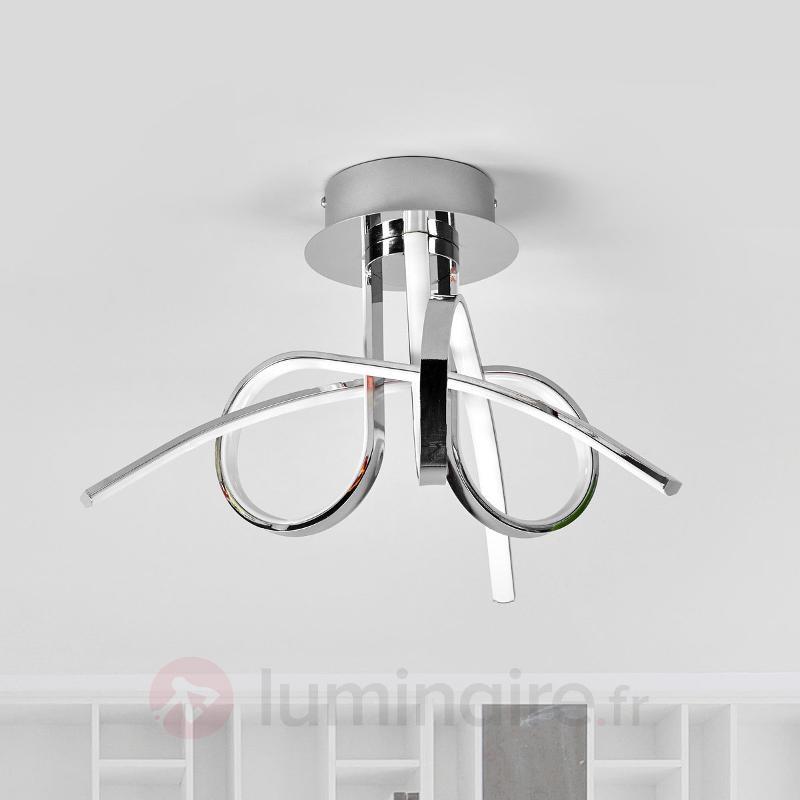 Plafonnier LED ondulé Nayla, chromé - Plafonniers LED