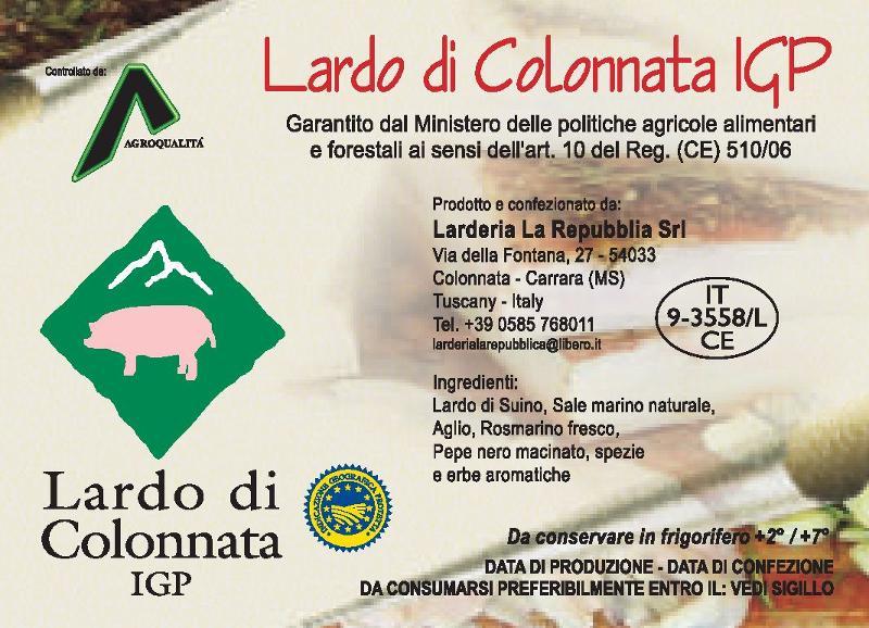 Lardo di Colonnata IGP Sottovuoto - Salumi latticini e uova - Lardo e strutto