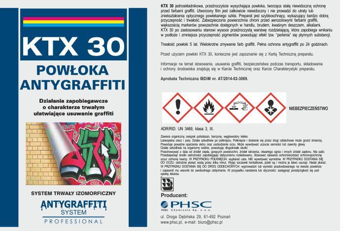 Powłoka antygraffiti KTX 30 - system trwały -