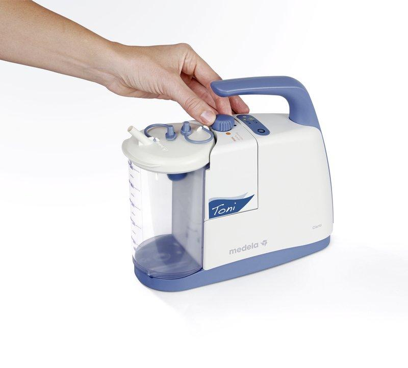 Clario Toni Pediatric Airway Suction Pump - The Clario Toni can be taken everywhere .