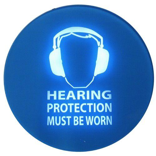 Noise-activated Warning Signs - SafeEar noise activated warning sign