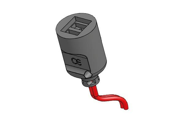 Connettore con faston paralleli per sensori di temperatura  -
