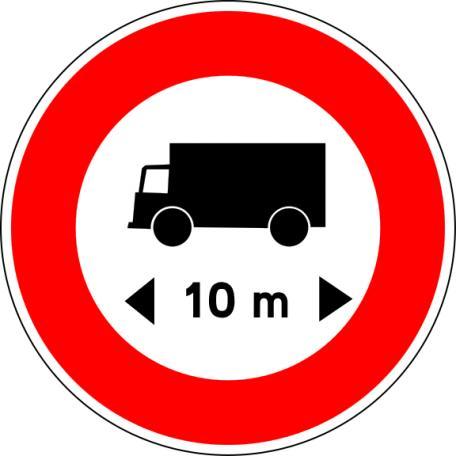 Panneau B10a Limitation De Longueur - Balisage De Chantier Et Panneaux Routiers