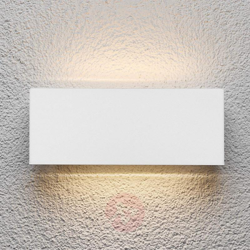 Safira - LED outdoor wall light in white - stainless-steel-outdoor-wall-lights