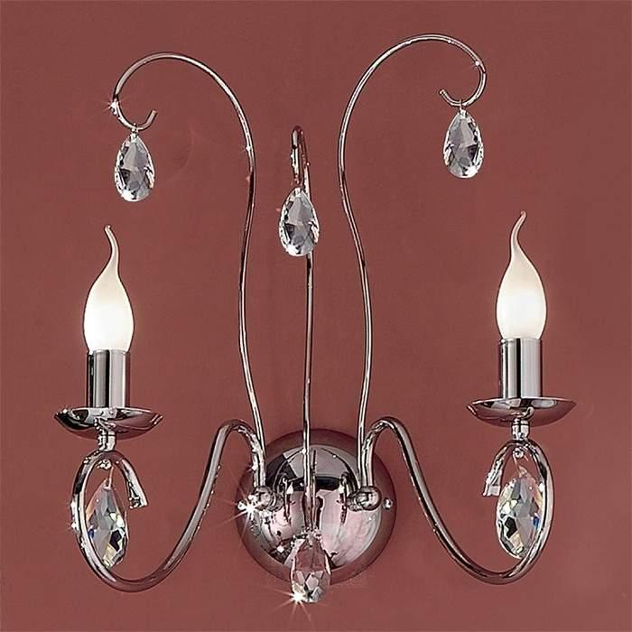 Fioretto Wall Light Graceful Two Bulbs Chrome - Wall Lights