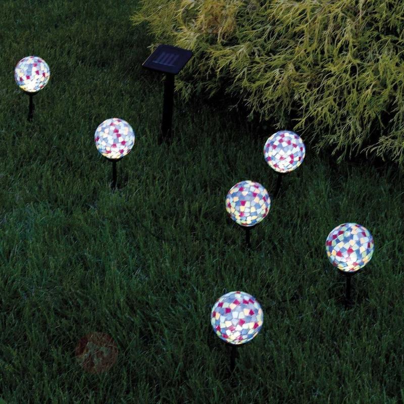 Lampe LED solaire attrayante KIRA lot de 6 - Lampes solaires décoratives