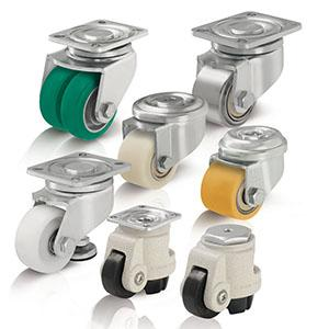 Compact and levelling castors - null