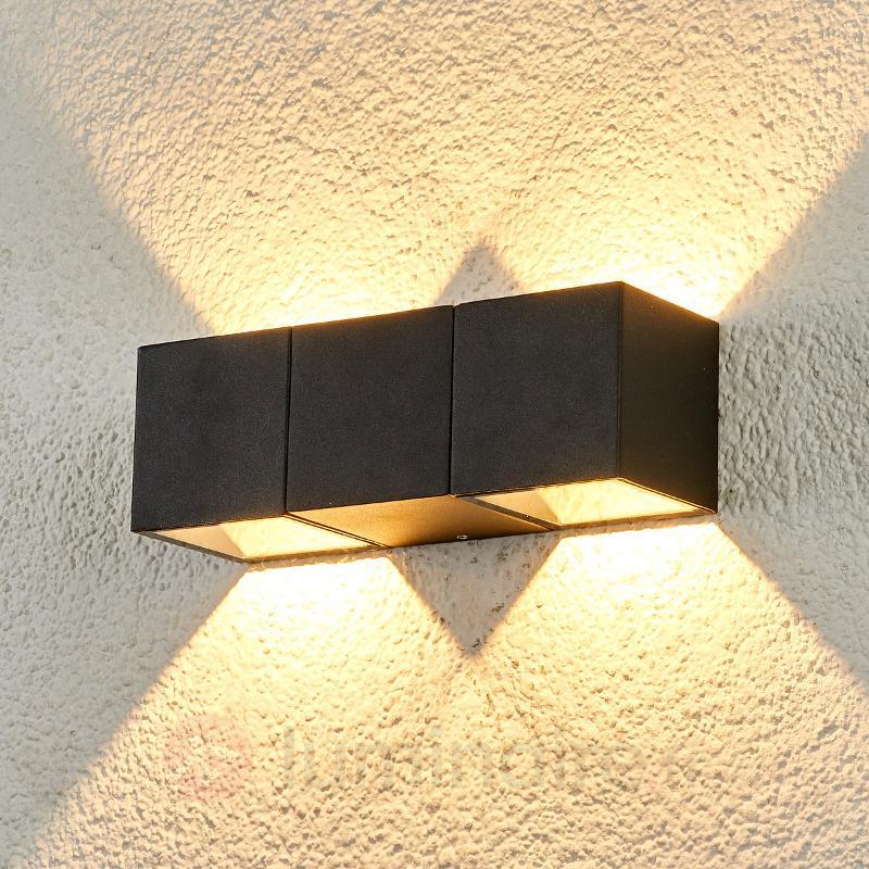 Applique d'extérieur LED à deux lampes Elian - Appliques d'extérieur LED