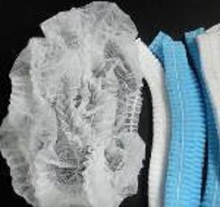 Casquette jetable - Couleur: bleu, blanc, vert Matériel: tissus non-tissés de pp Taille: 19 '' 21 ''