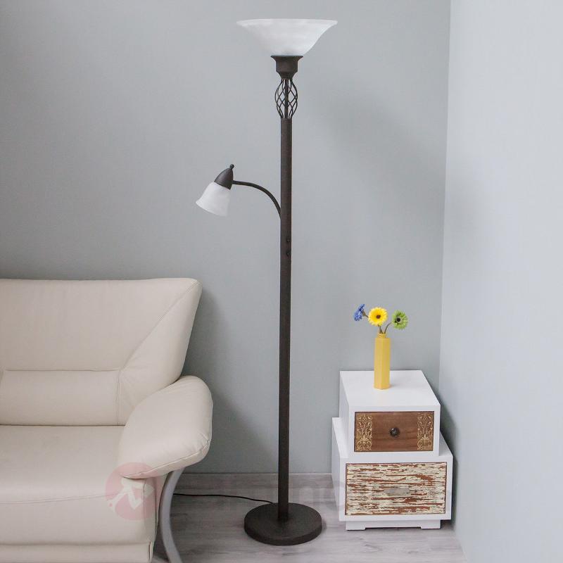 Lampadaire LED Dunja avec liseuse - Lampadaires LED à éclairage indirect