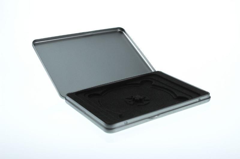 Metalldose im Standard DVD Format mit Samteinlage für 1 Disc - Metalldosen