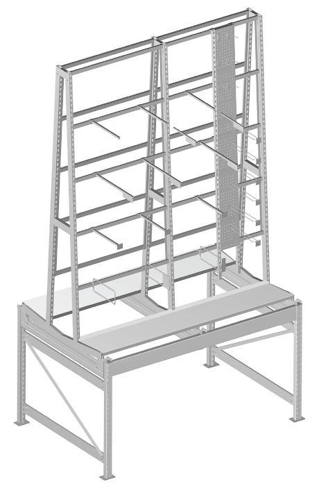 Modular shop rack systems & instore interior shelving design - SPRL unit on rack