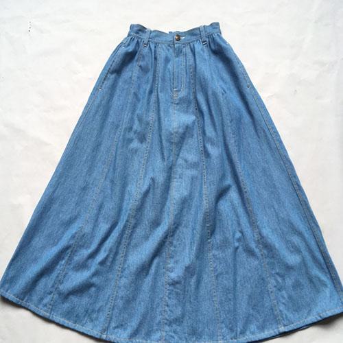 Long denim skirt  Stonewashed -