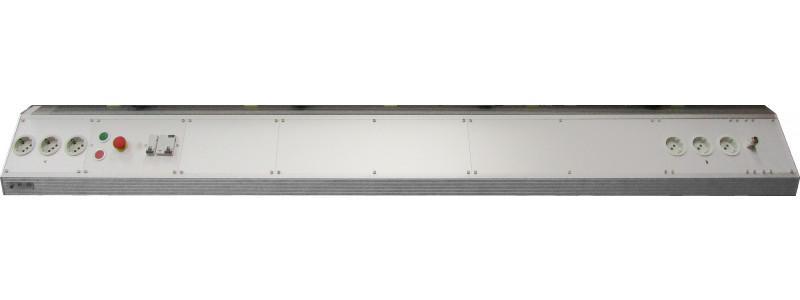 5-Eck-Kanal - Energieversorgung, Alu-Strangpressprofil, Standardlängen von 400 bis 2000mm
