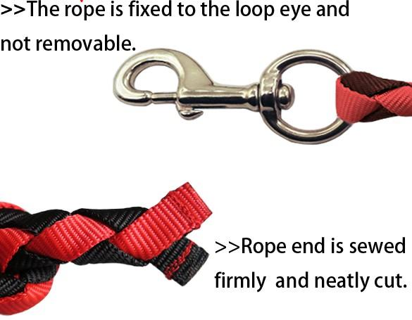horse lead rope with stainless steel swivel snap,pet's lead  - horse lead rope with stainless steel swivel snap,pet's lead rope,18MM thick