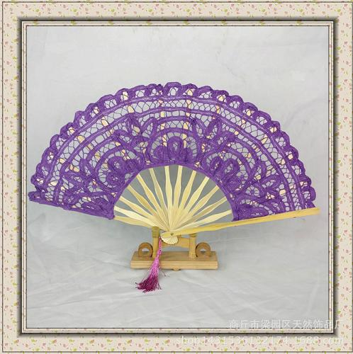 Handcraft embroidery fan for decoration