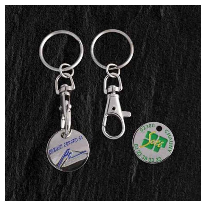 Porte-clés jeton classique - Porte-clés métal