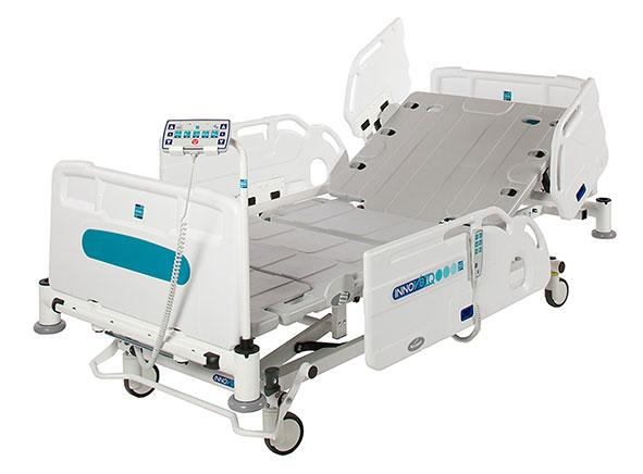 Innov8 IQ hospital bed with Split side rails - High performance bed suitable for ICU / HDU applications