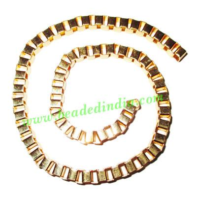 Gold Plated Metal Chain, size: 5mm, approx 16.5 meters in a  - Gold Plated Metal Chain, size: 5mm, approx 16.5 meters in a Kg.