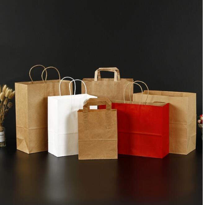Kraft Paper bag - disposable take-away food packaging bag