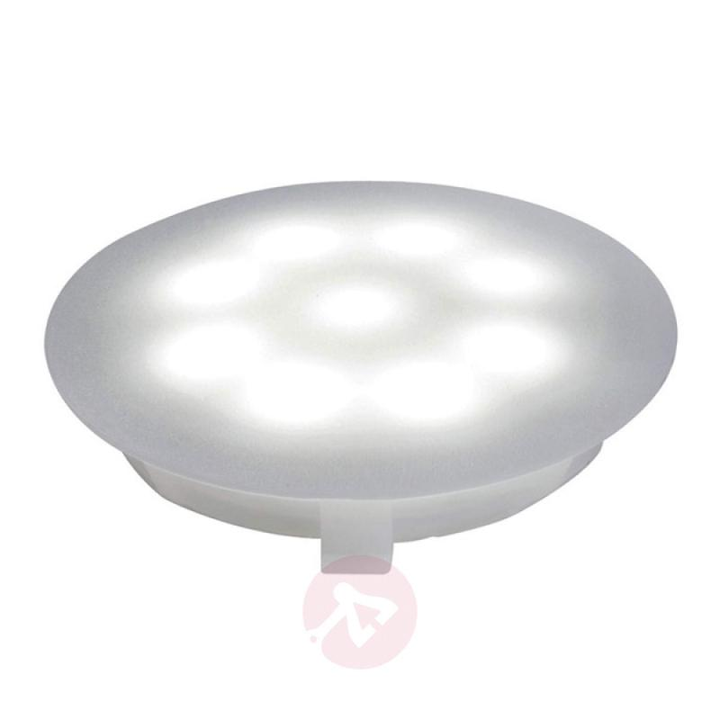 LED polycarbonate downlight 6500 K satin. 1x1 W - outdoor-led-lights