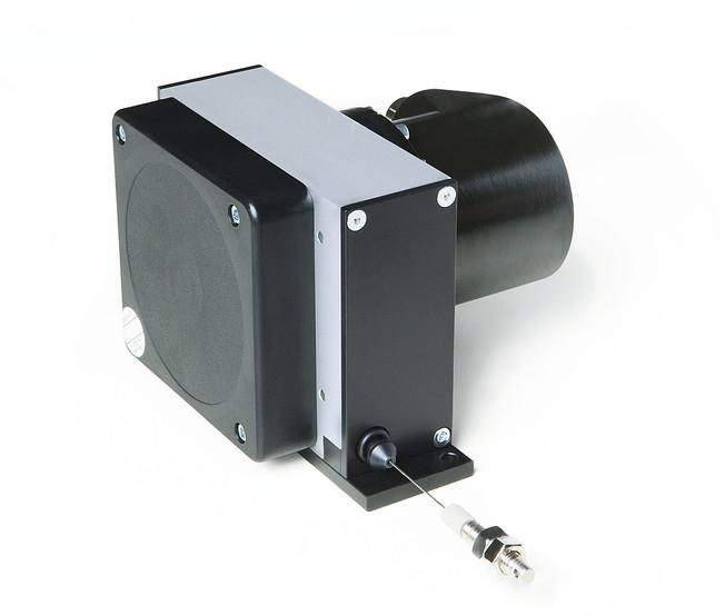 Wire-actuated encoder SG121 - Wire-actuated encoder SG121, robust design with 12 m measurement length