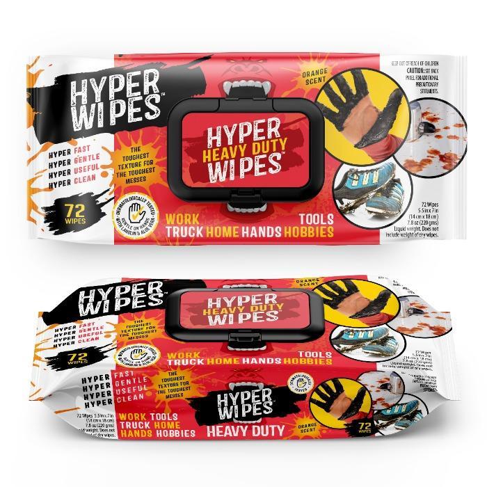 Hyper Wipes Heavy Duty Wet Wipes - 72CT Flowpack