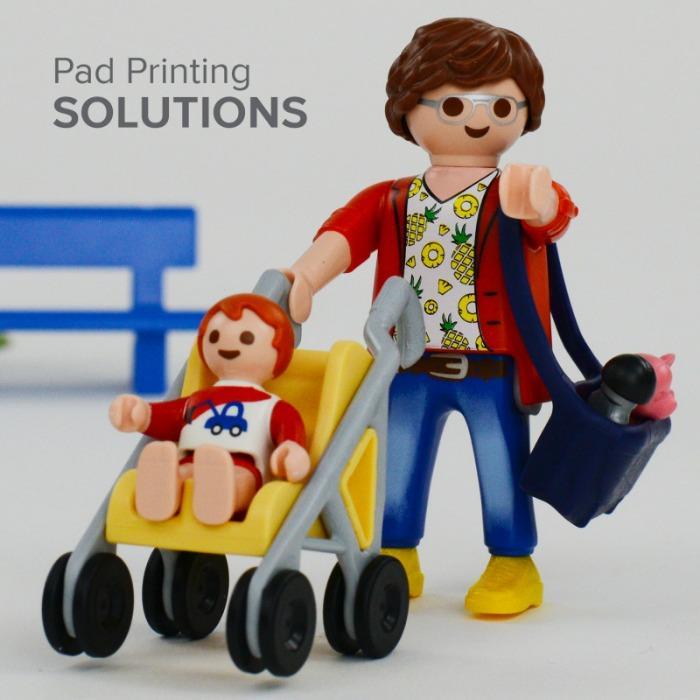 Applikationen für die Spielzeugindustrie - Applikationen für die Spielzeug Industrie mit Tampondruck und Lasermarkierung