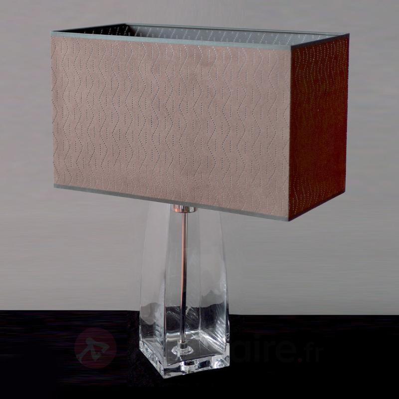 Lampe à poser décorative SARAH verre transparent - Lampes à poser en tissu