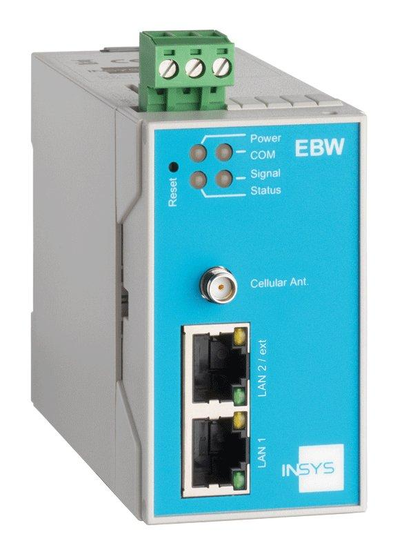 EBW-H100 3G/HSPA Router, VPN, Netmapping, IP/Port Forwarding - EBW-H100 Mobile Radio Router, 2 Port Switch, Firewall, Full NAT, Programmable