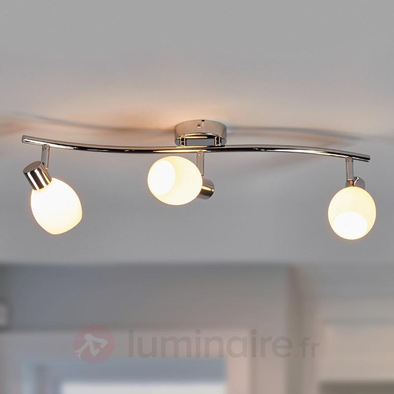 Aidan - plafonnier LED G9 avec abat-jours en verre - Plafonniers LED