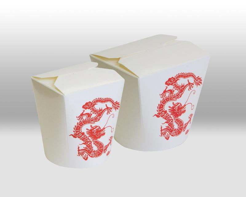 Red Dragon Paper Noodle Box - PACKAGING FOR TAKEAWAY