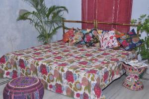Handmade kantha quilt  - bedcover