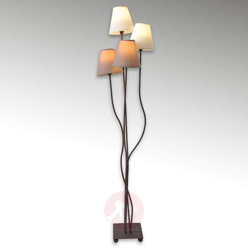 Twiddle - floor lamp with four fabric lampshades - Floor Lamps