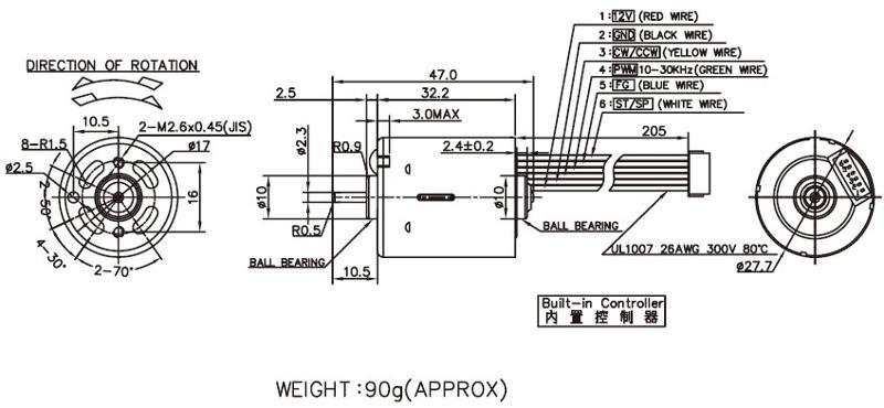 BLDC2832 - Brushless DC Motor