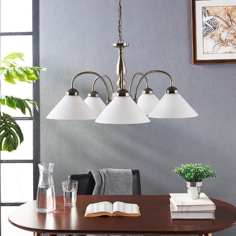 Suspension classique Otis, à 5 lampes - Cuisine et salle à manger