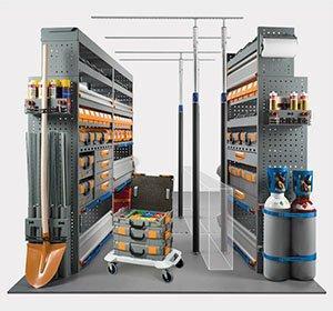 Scaffalature per furgoni - Scaffalature per furgoni con cassettiere portautensili ad alta resistenza alla c