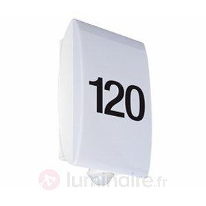 Numéro de maison lumineux LLH 180 - Appliques d'extérieur avec détecteur