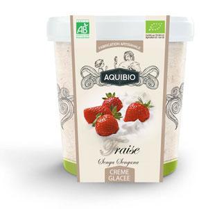 Crème glacée BIO fraise - Glaces biologiques