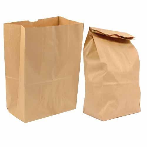 paper bags, paper sacks -