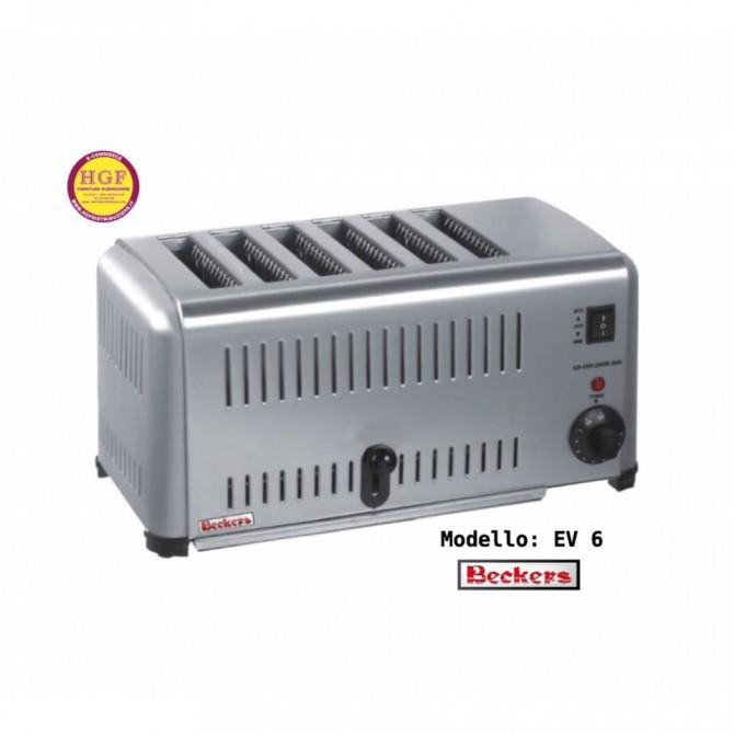 TOA01597 tostapane / toaster professionale Beckers EV 6 - Be -